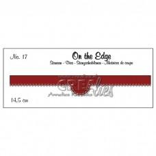 Crealies vyrezávacia šablóna On the edge N°17 s dvojitým prešitím