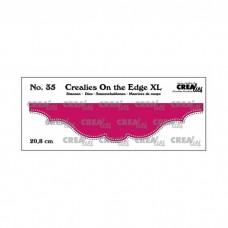 Crealies vyrezávacia šablóna On the edge N°35