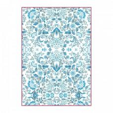 Ryžový papier A4 Blue arabesque - Krása v modrom