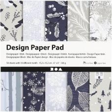 Dizajnový papier 15x15 Modro biely