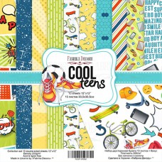 Fabrika Decoru obojstranný papier Cool teens 30x30 cm