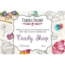 List na vymaľovanie Candy shop 10x15 cm