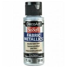 Farba na látku SoSoft Metallic Silver platinum 59 ml / Metalická strieborná