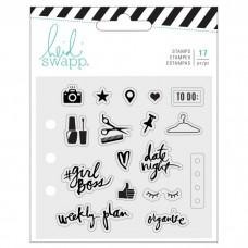 Silikónové pečiatka Heidi Swapp Memory planner everyday 17 ks