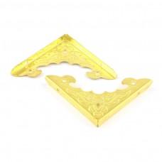 Kovové ukončovacie rohy ozdobné Zlatá 40x40 mm