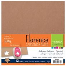 Kraft papier, kartón 30,5x30,5 cm, 300 g/m2