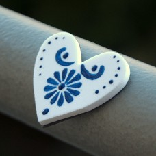 Magnetka Srdce modrô