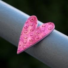 Magnetka Srdce ružové