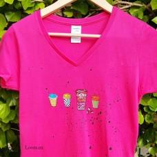 Dámske maľované tričko Kávička