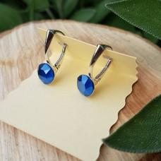 Náušnice striebro royal blue