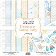 Fabrika Decoru obojstranný papier Dreamy baby boy 20x20 cm