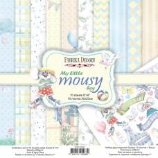Fabrika Decoru obojstranný papier My little mousy boy 20x20 cm