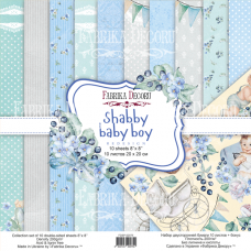 Fabrika Decoru obojstranný papier Shabby baby boy 20x20 cm