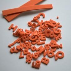 Penové Samolepiace Písmená a čísla Oranžová