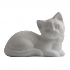 Polystyrénová mačka ležiaca 14 cm