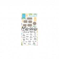 Marianne Design rezacia šablóna a pečiatky Etikety