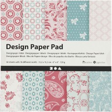 Dizajnový papier 15x15 Kašmír ružová