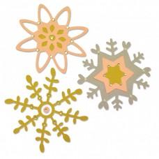 Sizzix Thinlits Snehové vločky 5 ks