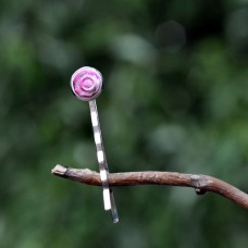 Sponka do vlasov Ružová dúhová