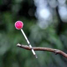 Sponka do vlasov Ružová neónová kvetinka
