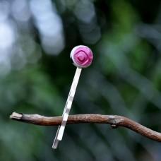 Sponka do vlasov Ružová perleťová