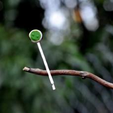 Sponka do vlasov Zelená