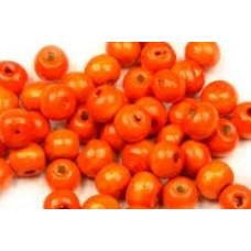 Drevené korálky Oranžová 6 mm