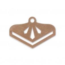 Ukončovací komponent Trojuholník Zlatá ružová