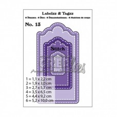 Crealies vyrezávacia šablóna Etikety N°13