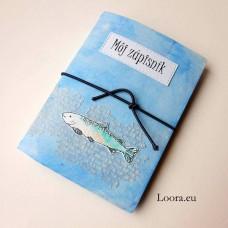 Zápisník Modrý rybka A6
