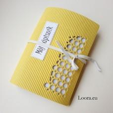 Zápisník Žltý vlnitý A6