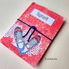 Zápisník Červený topánočky A6