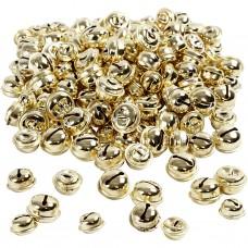 Zvončeky, rolničky 13, 15, 17 mm Zlaté 220 ks