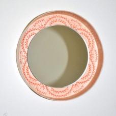 Kruhové zrkadlo Výšivka marhuľka